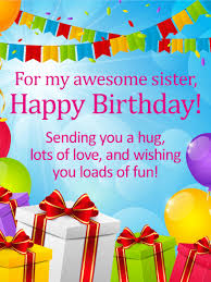 send birthday balloons in a box for my awesome happy birthday wishes card birthday
