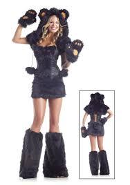 Men Black Halloween Costume 8 Pc Deluxe Black Bear Costume