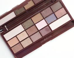 makeup revolution i heart chocolate wonder palette swatches