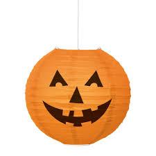 round paper lantern pumpkin halloween decoration halloween party