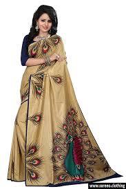 golden blouse golden color silk saree with blouse