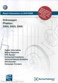 volkswagen phaeton 2004 2005 2006 repair manual on dvd rom