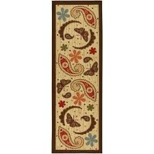 Brown Paisley Rug Kitchen Exciting Dark Brown Kitchen Area Rugs With Three Cups A