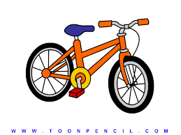 drawn bicycle kids bike pencil and in color drawn bicycle kids bike