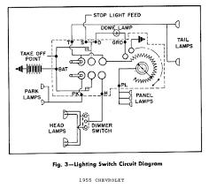 lighting switch circuit diagram for 1955 chevrolet passenger car1