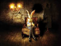 creepy alice in wonderland bunnies horror creepy dark alice in