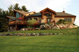 how to build your log home on a difficult site