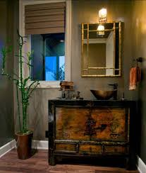 Bamboo Vanity Cabinets Bathroom by Feng Shui Bathroom Design Ideas With Chinese Vanity Cabinet And