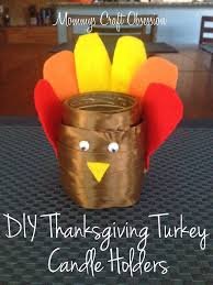 mommy u0027s obsessions diy thanksgiving turkey candle holders