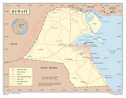 kuwait on a map maps of kuwait detailed map of kuwait in tourist map