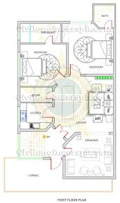 new 10 marla house design autocad 2d maps