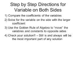 1 4 solving multistep equations variables on both sides