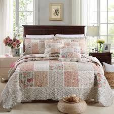 chausub cotton patchwork quilt set 3pcs 4pcs korean floral bedspread
