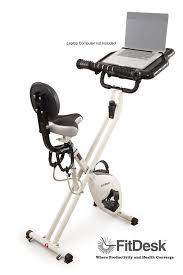 Recumbent Bike Desk Diy by Amazon Com Fitdesk 2 0 Desk Exercise Bike With Massage Bar