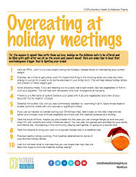 health u0026 wellness theme for december overeating at holiday