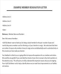 sample membership resignation letter 5 examples in pdf word