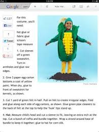Corn Halloween Costume Loved Larking Corny Family Diy Upcycled