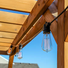 Outdoor String Lights Vintage by Brightech Ambience Pro Vintage Edition With Weathertite