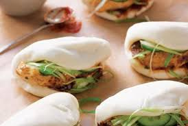 chinese roast chicken buns with scallion and spicy hoisin sauce