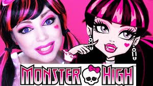 Monster High Doll Halloween Costumes by Monster High Draculaura Makeup Charisma Star Youtube