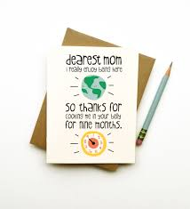 birthday card ideas for mom thanks for cooking me mom card mothers day birthday funny cute
