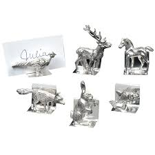Table Card Holders by Sterling Silver Animal Place Card Holders Placecard Holders