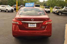 nissan sentra 2014 2014 nissan sentra sv red sedan used car sale