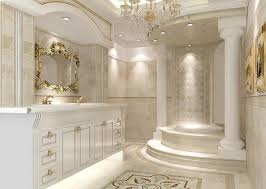 classic bathroom design luxury gold leaf mirror frame gold