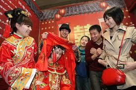 wedding china wedding gowns are in fashion again cgtn america