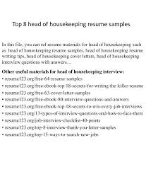Sle Good Resume Objective 8 Exles In Pdf Word - housekeeping resume exles unique professional sle for applying