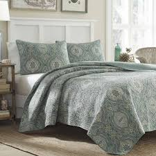 sleep in comfort and sophisticated style with this beautiful tommy bahama three piece quilt set