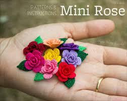 crochet pattern mini crochet flower pattern small crochet