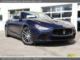 2015 Maserati Ghibli Interior Blu Passione Blue 2015 Maserati Ghibli S Q4 Cuoio Interior