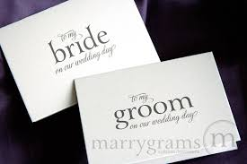 card to groom from on wedding day husband on our wedding day card to my or groom mix style