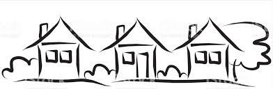 three houses three houses csite black sketch stock vector 675348150 istock