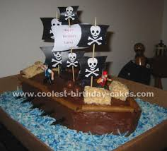 coolest pirate cakes and how to tips pirate ship cakes coconut