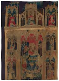 Madeline Leidy by Medieval Tapestries In The Metropolitan Museum Of Art