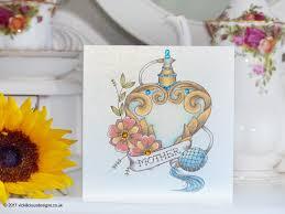 handmade mother u0027s day card vintage perfume atomiser tattoo