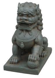foo dog sculpture hi line gift ltd foo dog left paw on statue reviews wayfair