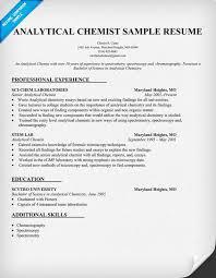 Latest Resume Samples by Analytical Chemist Resume Http Topresume Info Analytical