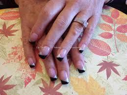 acrylic nails with black tips u2013 slybury com