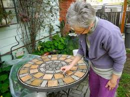 Mosaic Top Patio Table How To Create A Mosaic Tile Top For Your Patio Table Home