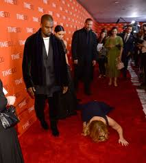 time 100 amy schumer dives on red carpet with kanye west and kim