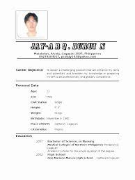 basic resume exles 2017 philippines filipino resume sle fresh sle resumes exle resumes with