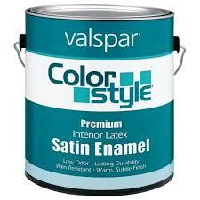 valspar 1 gallon white colorstyle interior latex satin enamel wall