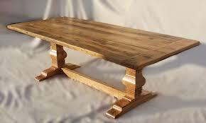 trestle base dining table custom furniture portfolio kodama