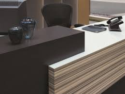 Laminate Reception Desk Applying Laminate Vertically Creates A Dramatic Focal Point