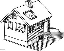 detached house drawing vector art getty images