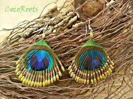 peacock earrings dangle peacock earring feather chandelier bohemian