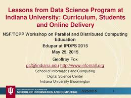 lessons from data science program at indiana university curriculum u2026